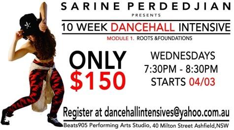 Dancehall Sydney Sarine