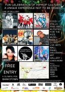 flyer back 4elements hiphop festival bankstown vyva entertainment byds