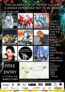 flyer back 4elements hiphop festival bankstown vyva entertainment byds