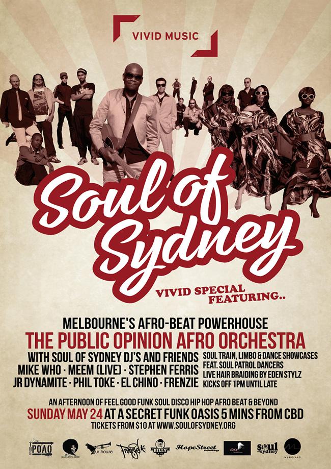 A4 FLYER Soul of Sydney Vivid Block Party