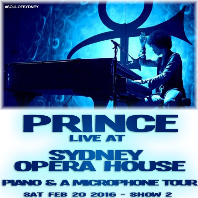 Prince Cover sydney opera house show 2